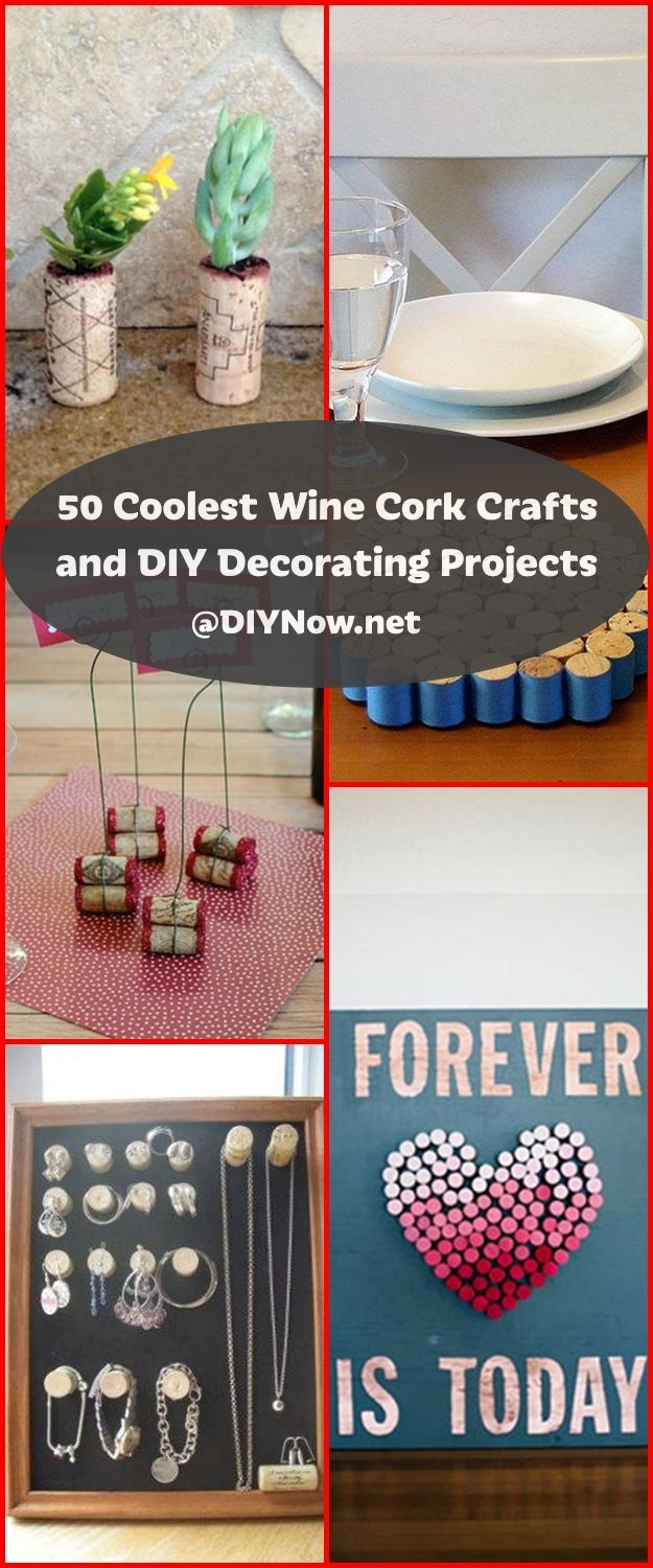 50 Coolest Wine Cork Crafts and DIY Decorating Projects