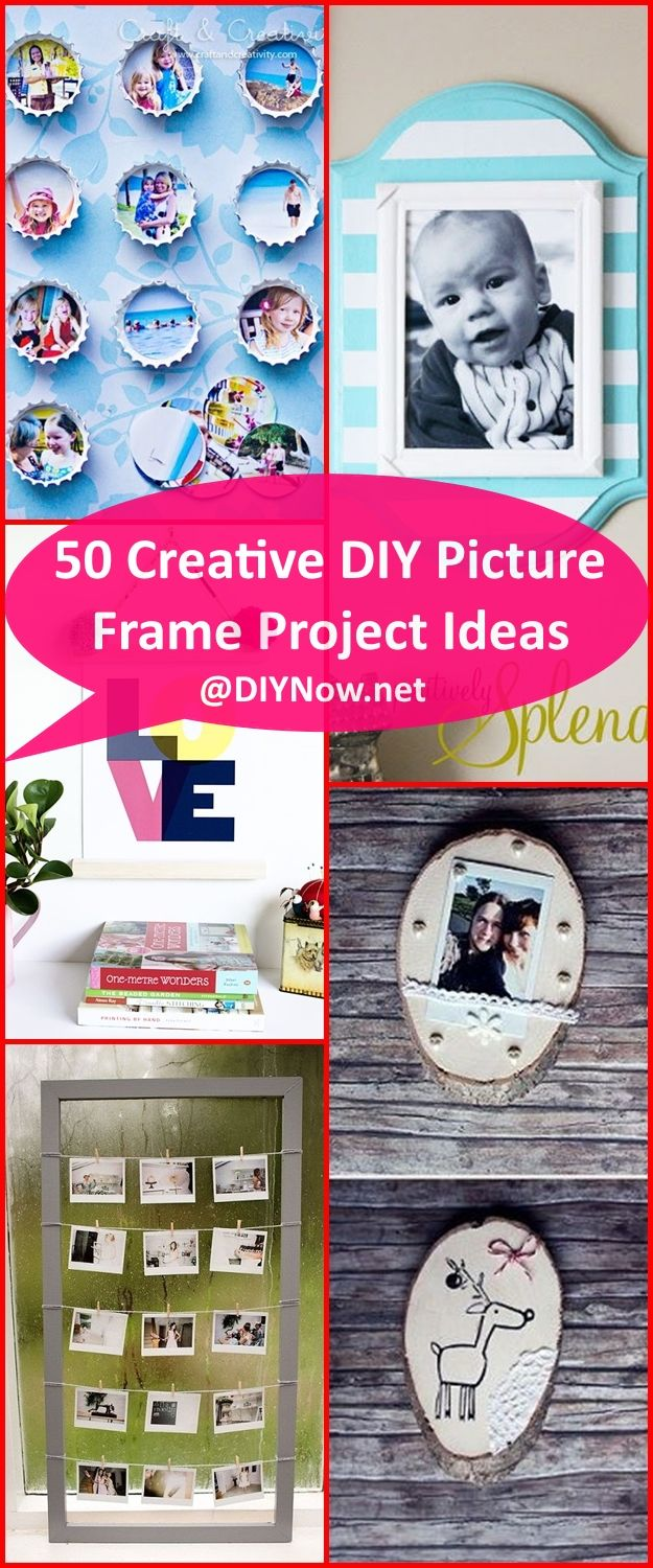 50 Creative DIY Picture Frame Project Ideas