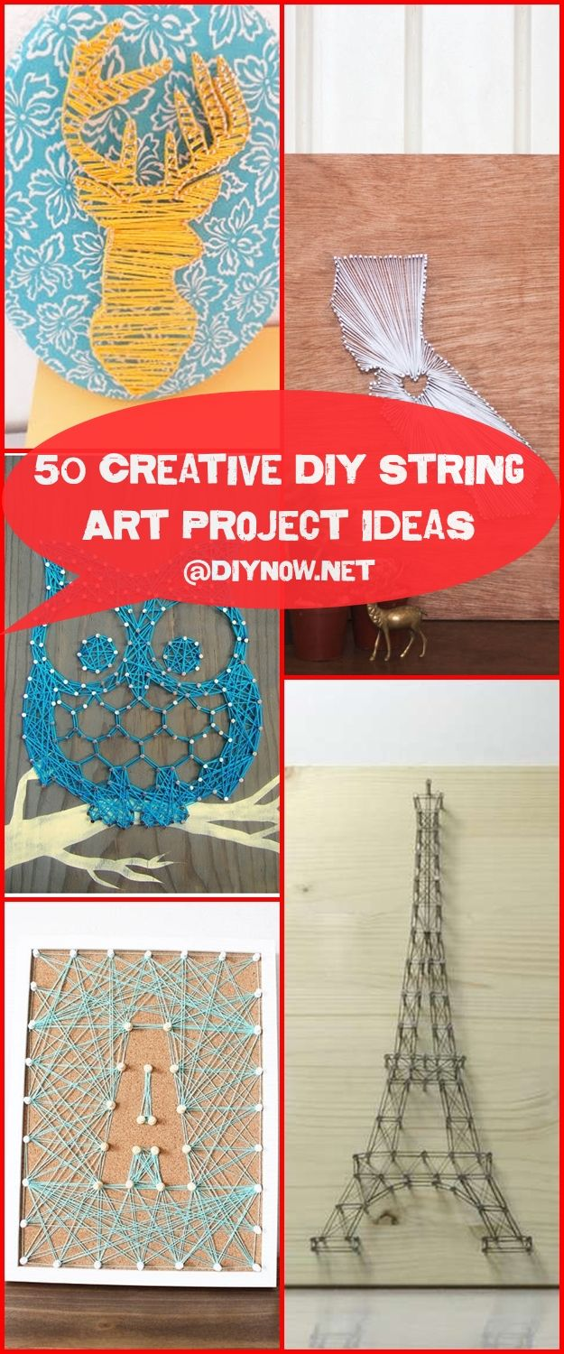 50 Creative DIY String Art Project Ideas