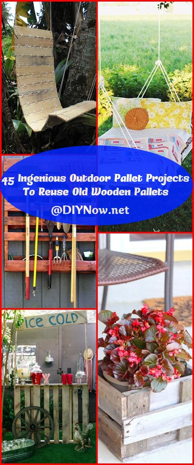 45 Ingenious Outdoor Pallet Projects To Reuse Old Wooden Pallets