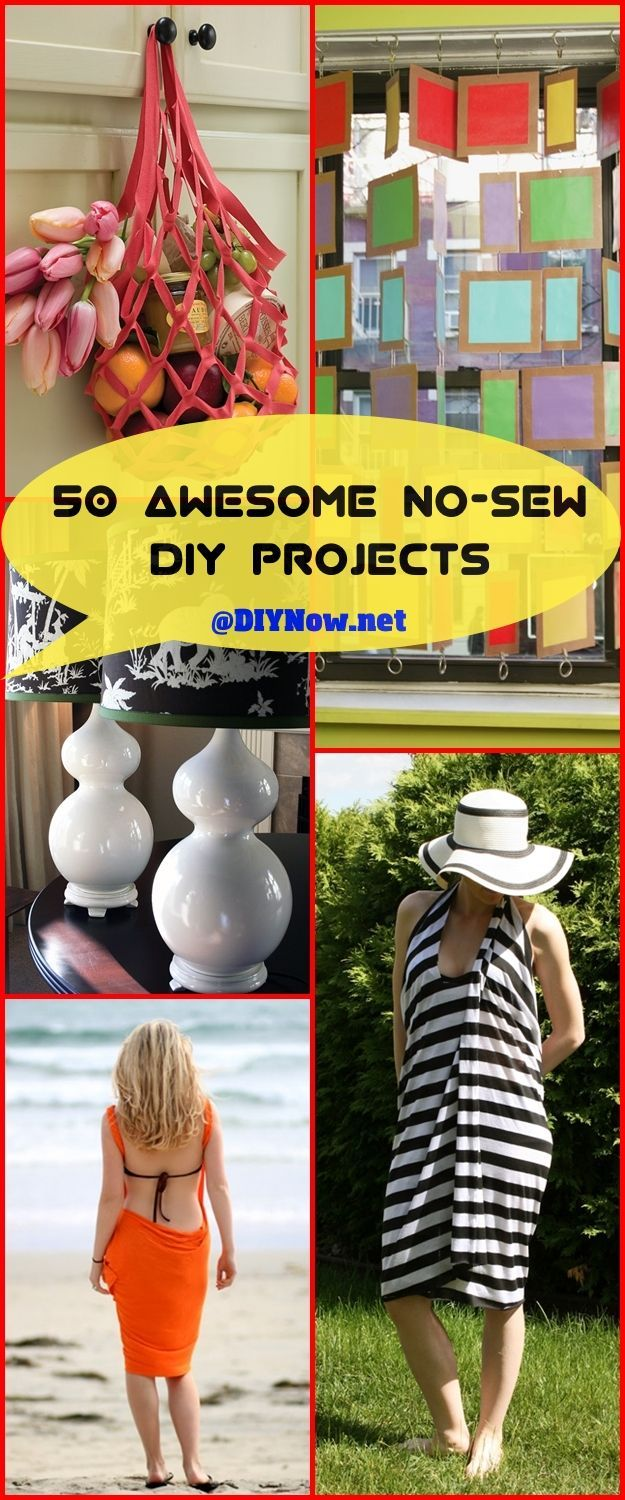 50 Awesome No-Sew DIY Projects