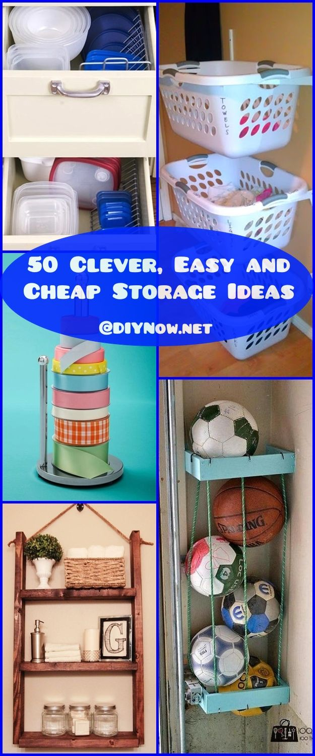 50 Clever Easy and Cheap Storage Ideas