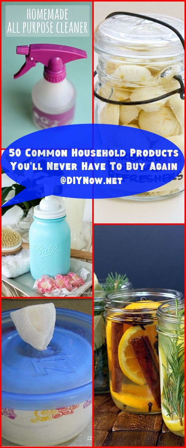 50 Common Household Products You'll Never Have To Buy Again