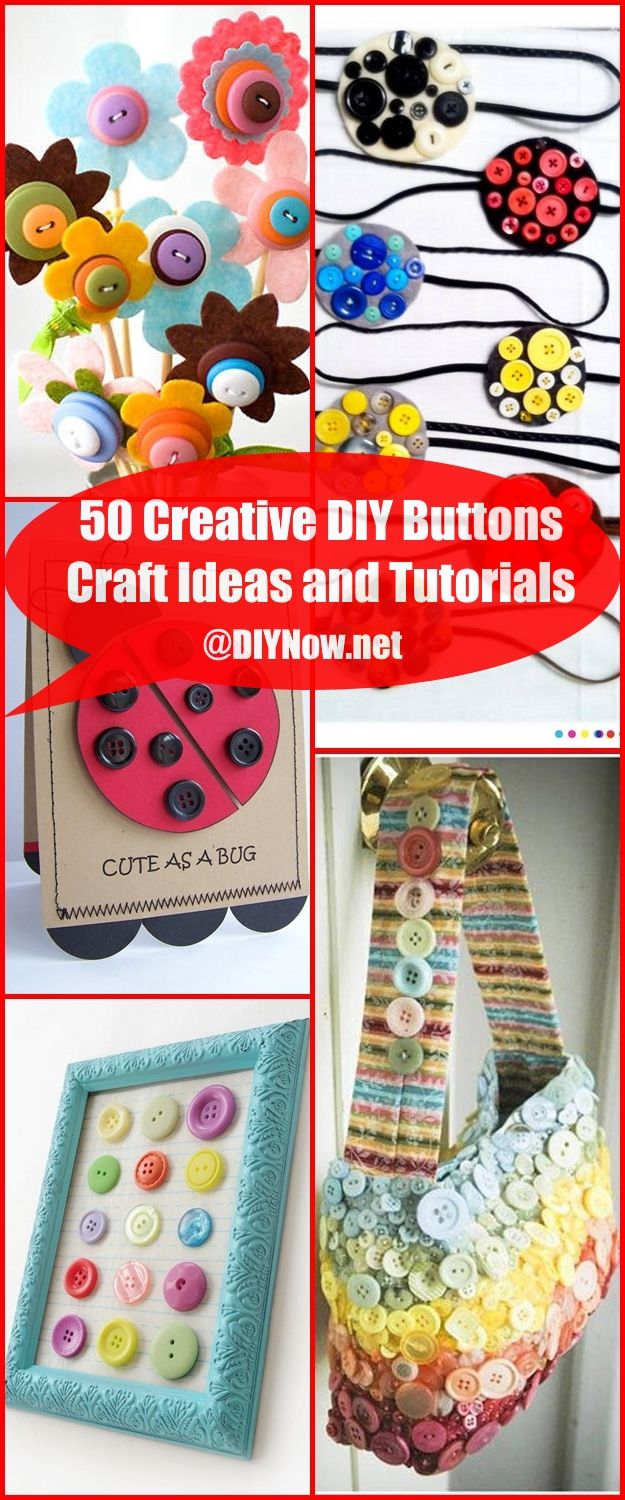 50 Creative DIY Buttons Craft Ideas and Tutorials