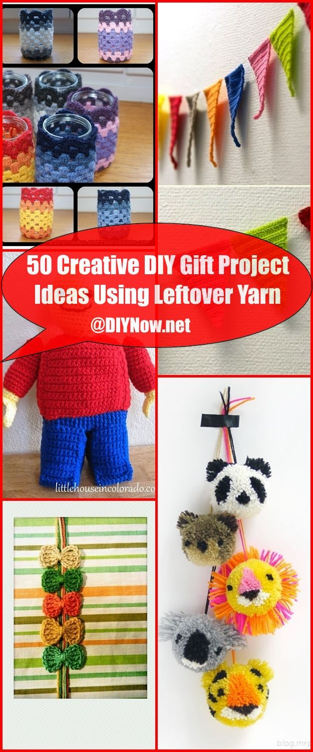 50 Creative DIY Gift Project Ideas Using Leftover Yarn
