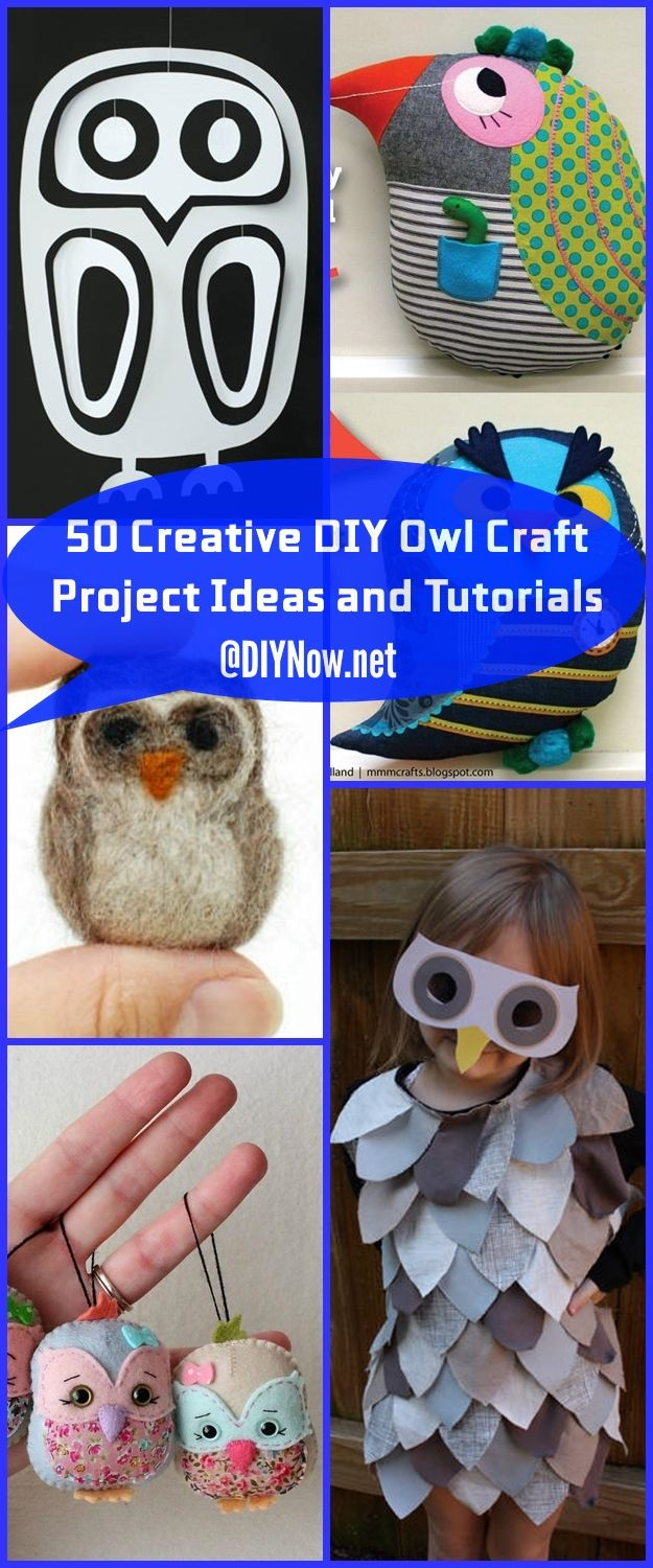 50 Creative DIY Owl Craft Project Ideas and Tutorials