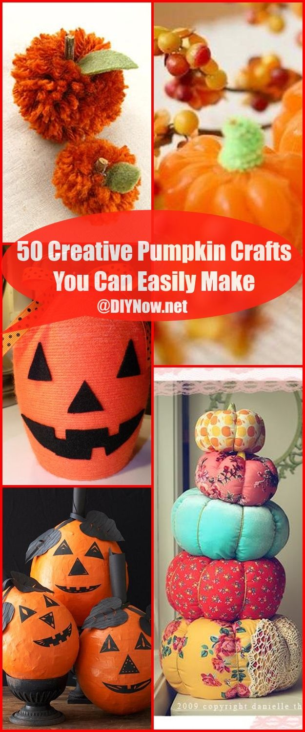 50 Creative Pumpkin Crafts You Can Easily Make