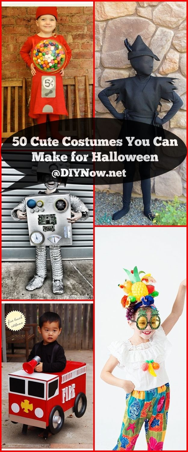 50 Cute Costumes You Can Make for Halloween