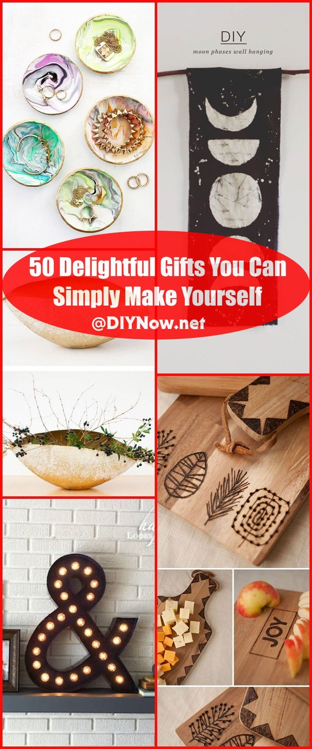 50 Delightful Gifts You Can Simply Make Yourself