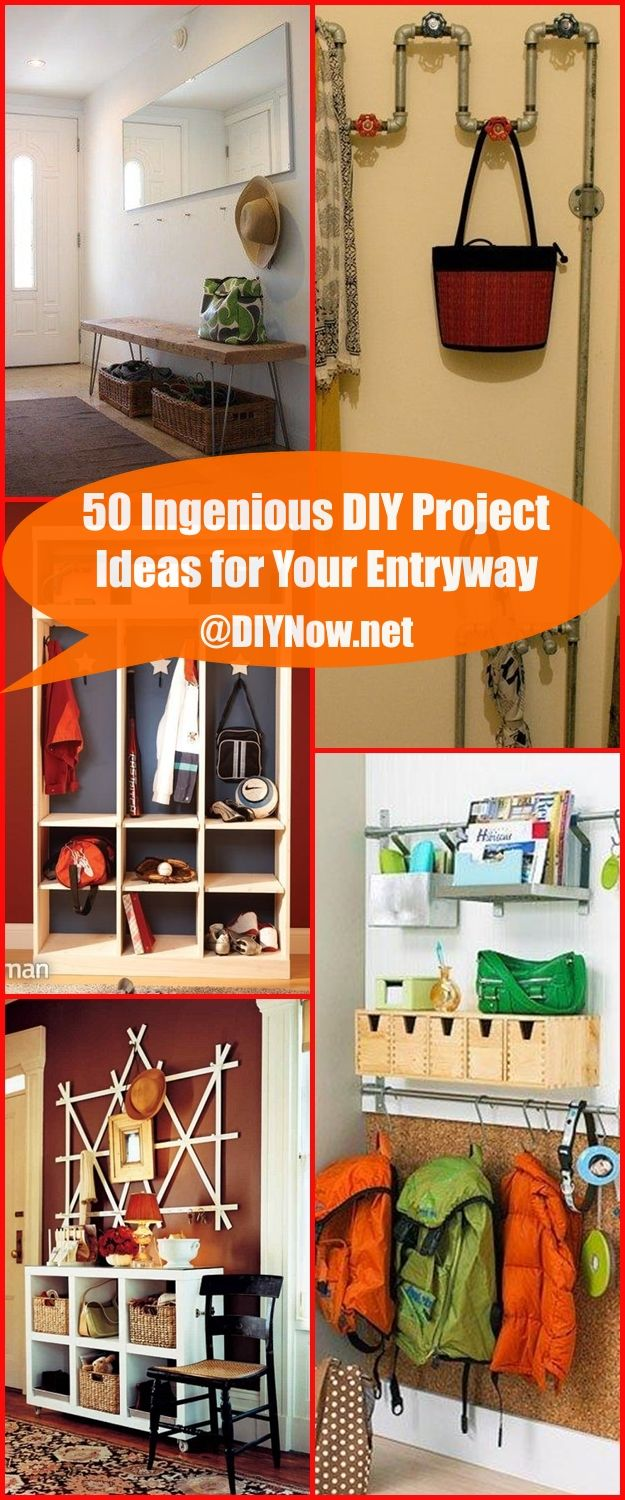 50 Ingenious DIY Project Ideas for Your Entryway