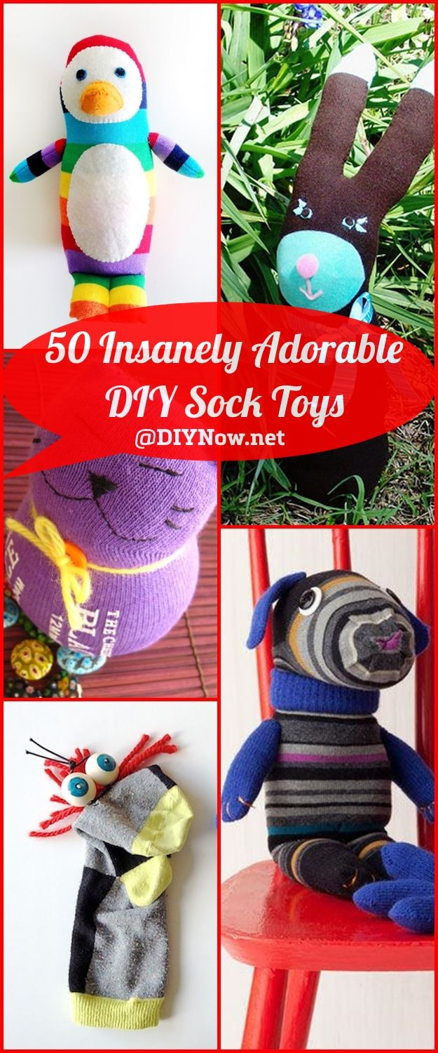 50 Insanely Adorable DIY Sock Toys