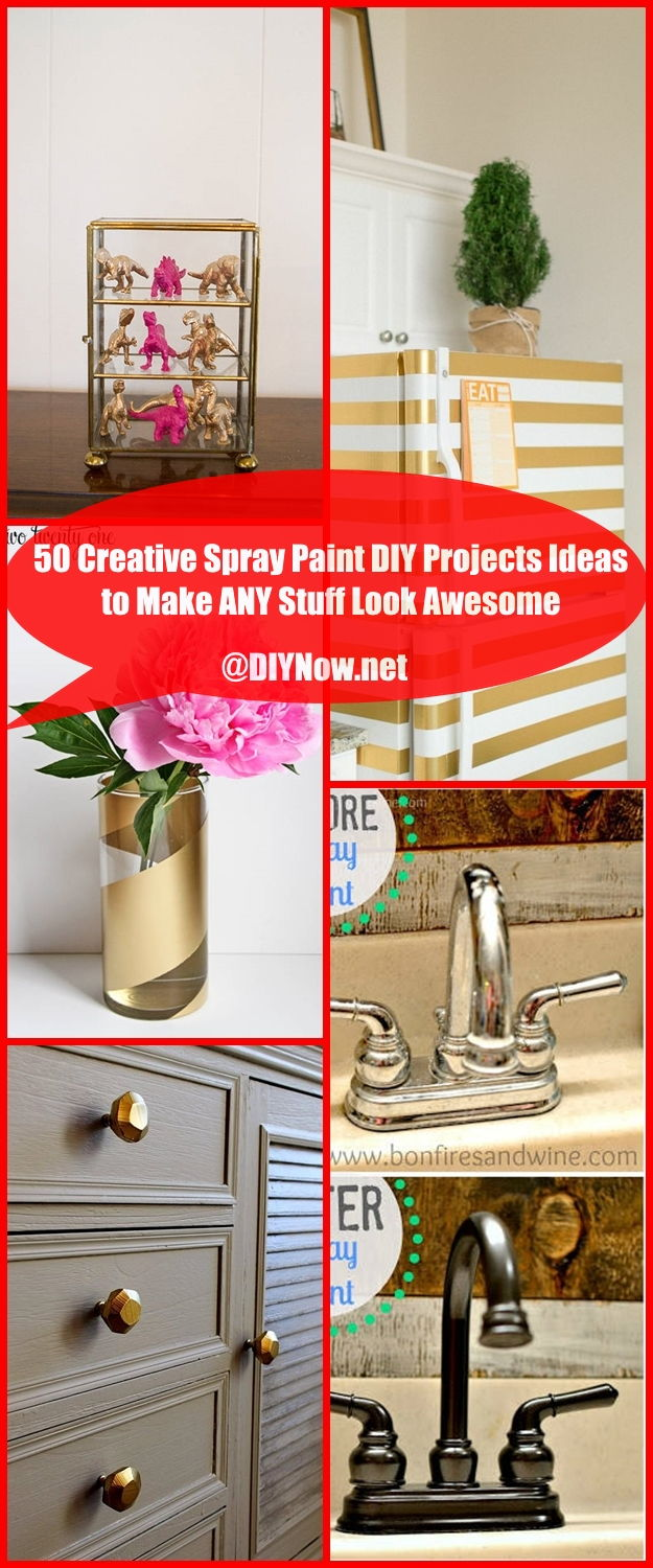 50 Creative Spray Paint DIY Projects Ideas to Make ANY Stuff Look Awesome