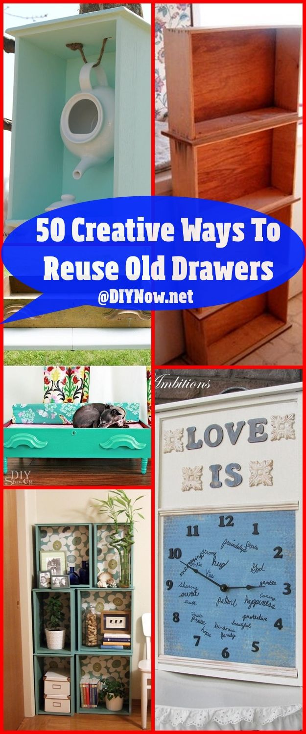 50 Creative Ways To Reuse Old Drawers