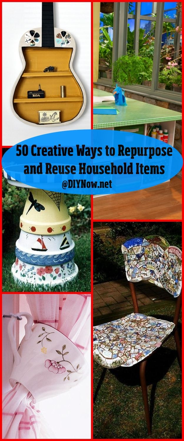 50 Creative Ways to Repurpose and Reuse Household Items