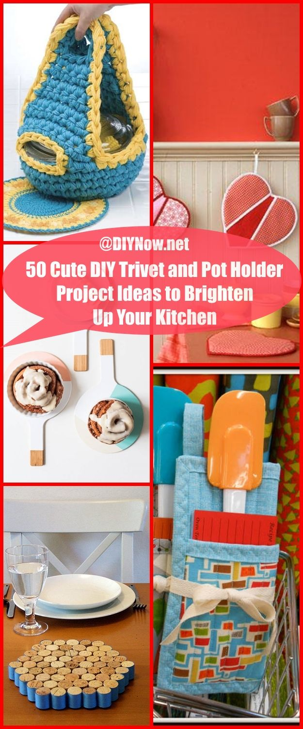 50 Cute DIY Trivet and Pot Holder Project Ideas to Brighten Up Your Kitchen