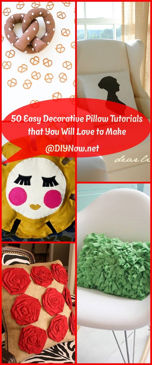 50 Easy Decorative Pillow Tutorials that You Will Love to Make