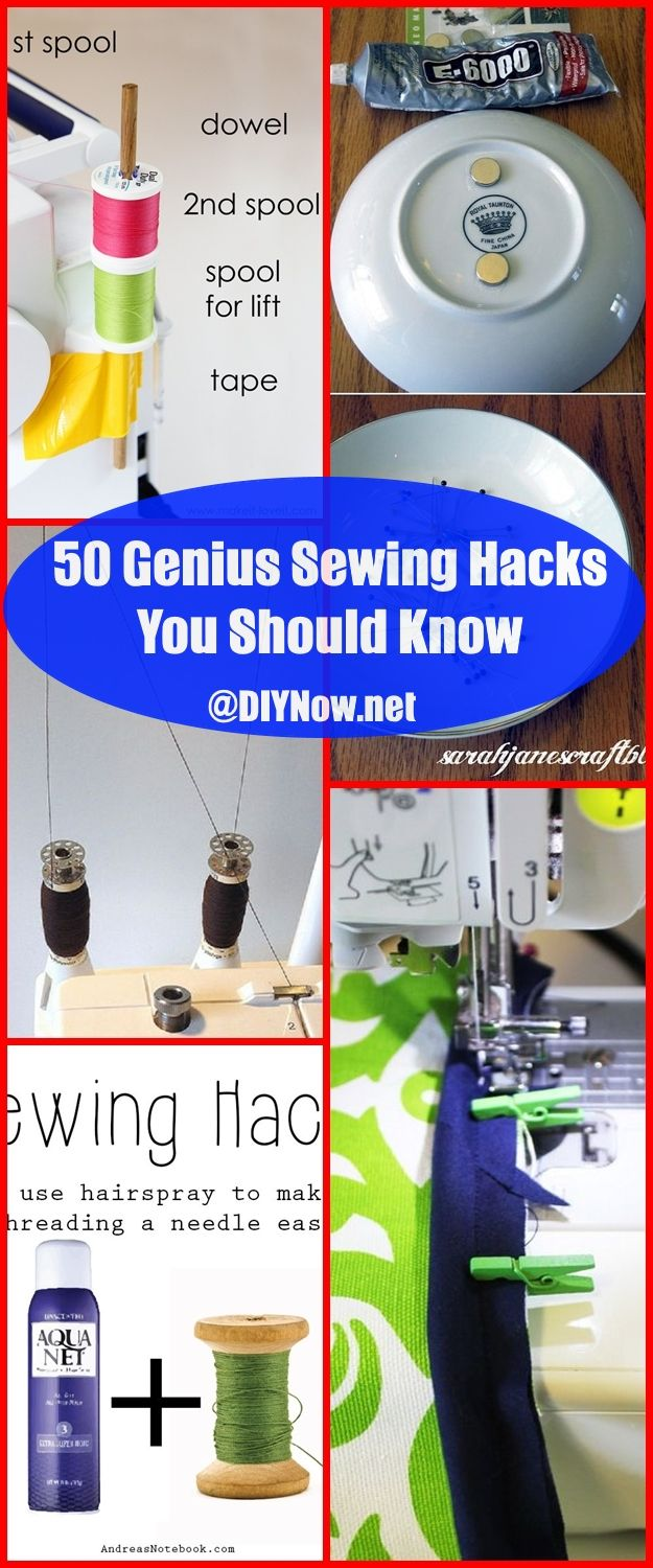 50 Genius Sewing Hacks You Should Know