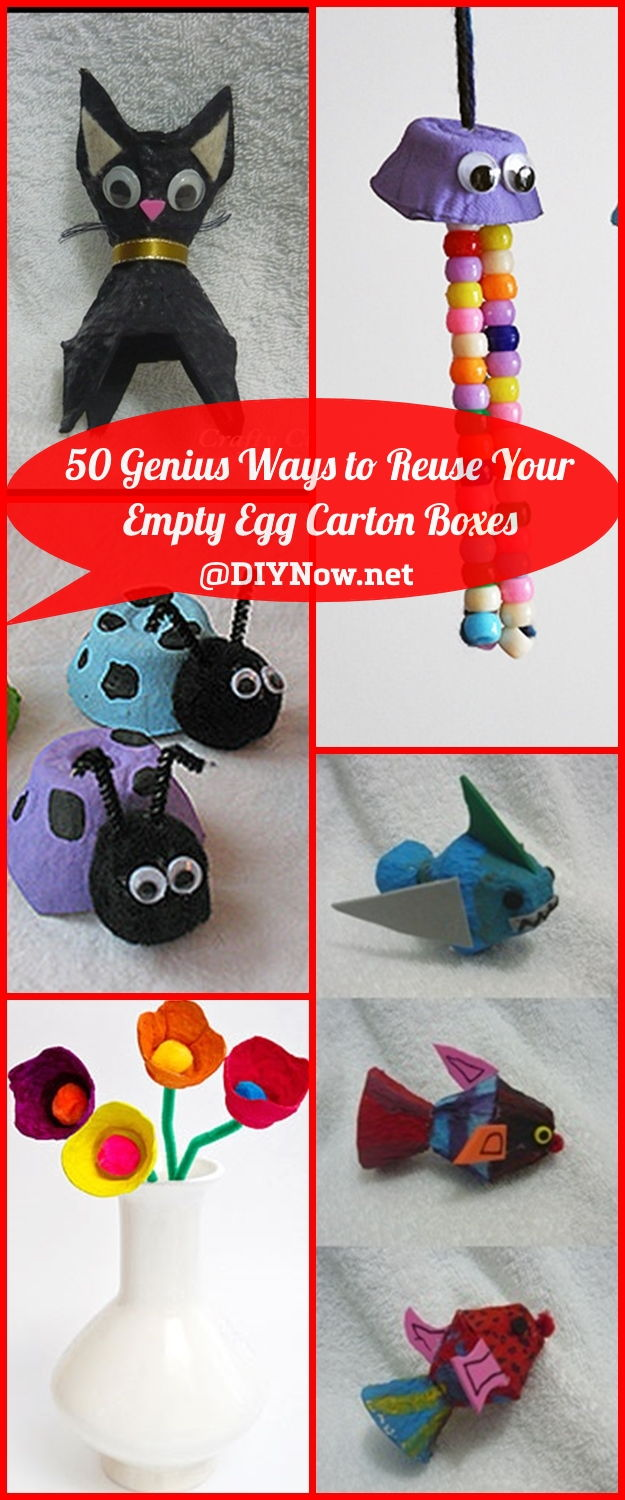 50 Genius Ways to Reuse Your Empty Egg Carton Boxes