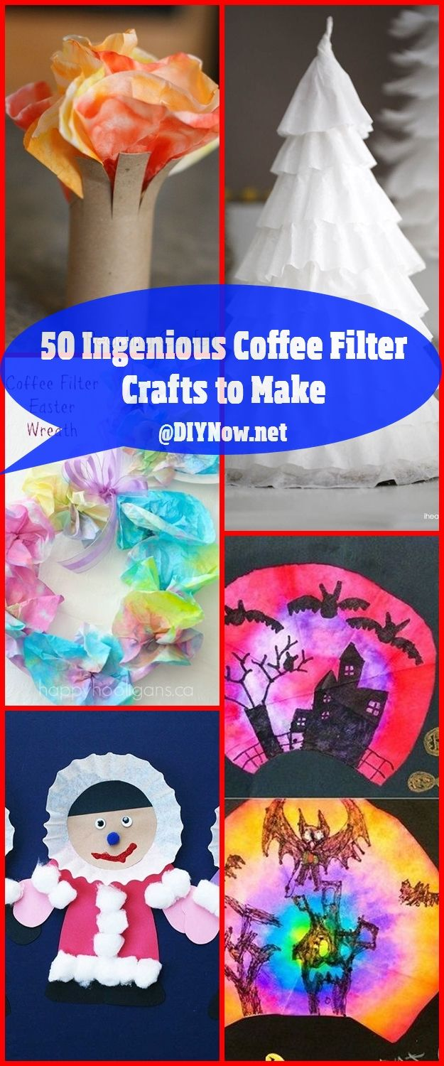 50 Ingenious Coffee Filter Crafts to Make