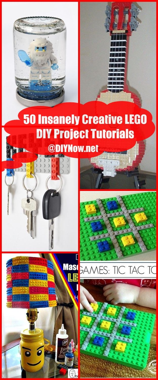 50 Insanely Creative LEGO DIY Project Tutorials