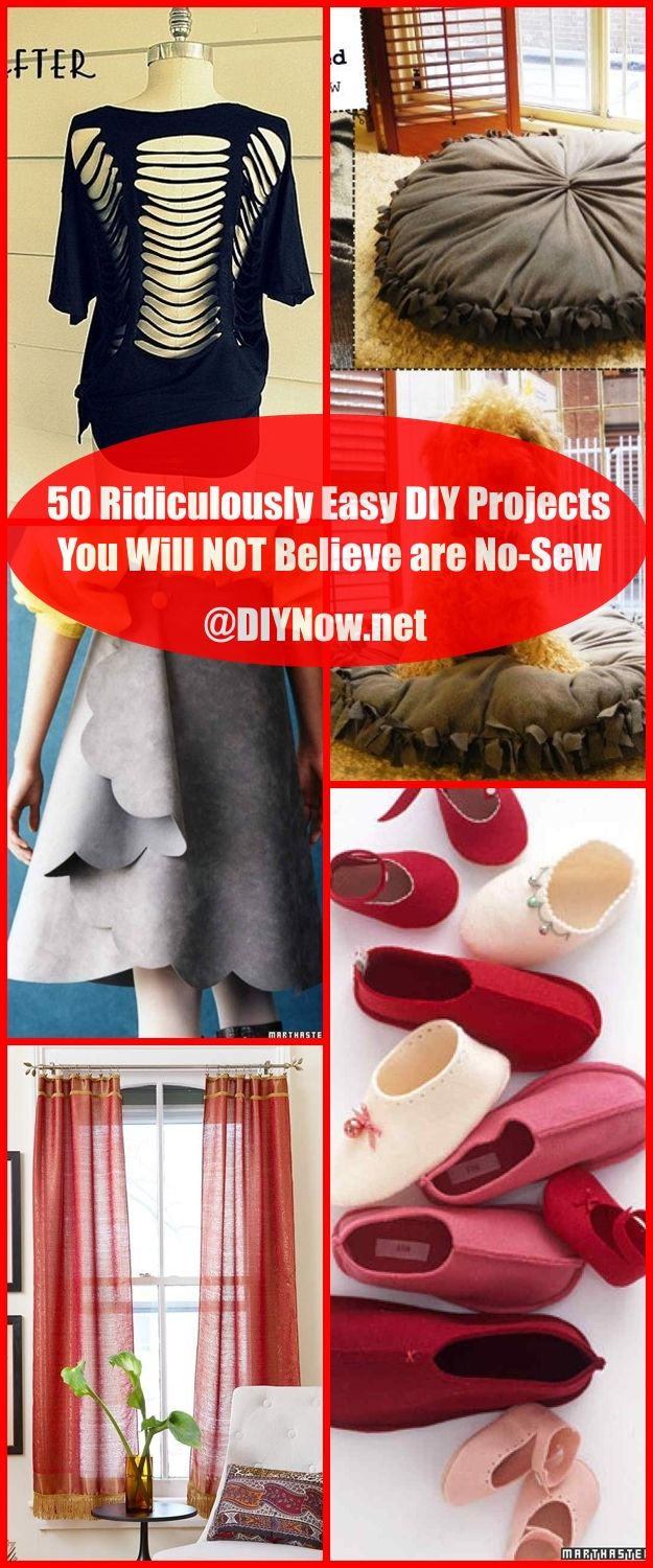 50 Ridiculously Easy DIY Projects You Will NOT Believe are No-Sew