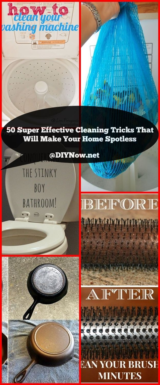 50 Super Effective Cleaning Tricks That Will Make Your Home Spotless