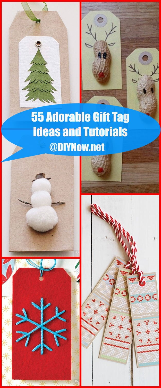 55 Adorable Gift Tag Ideas and Tutorials