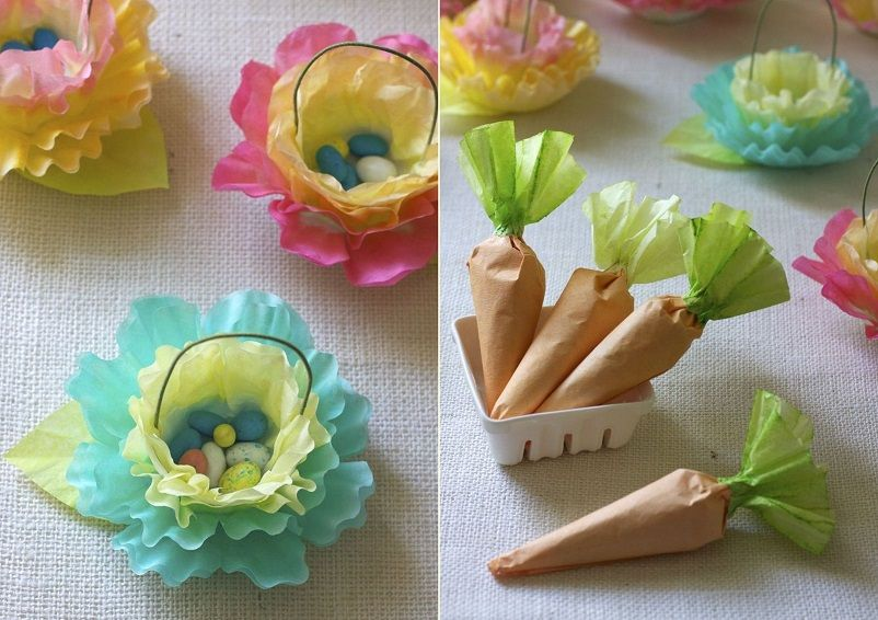 Coffee Filter Flower and Carrot