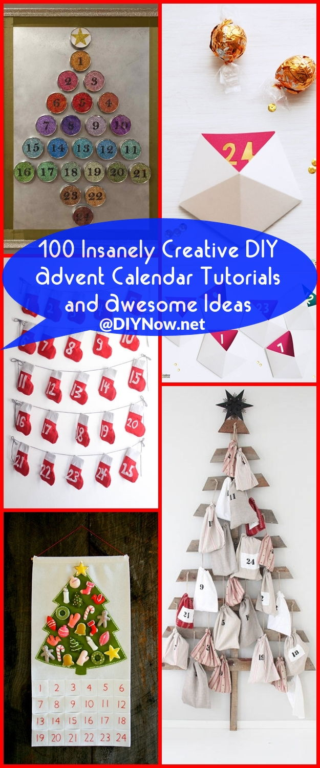 100 Insanely Creative DIY Advent Calendar Tutorials and Awesome Ideas