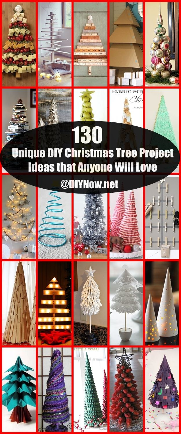 130 Unique DIY Christmas Tree Project Ideas that Anyone Will Love