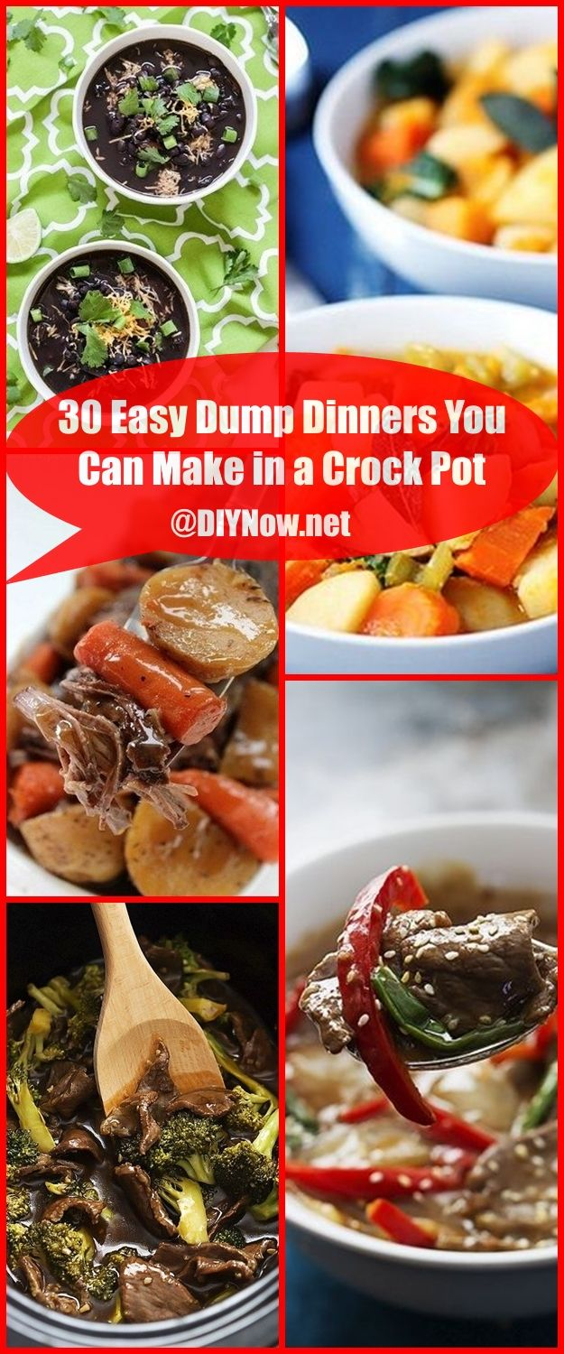 30 Easy Dump Dinners You Can Make in a Crock Pot