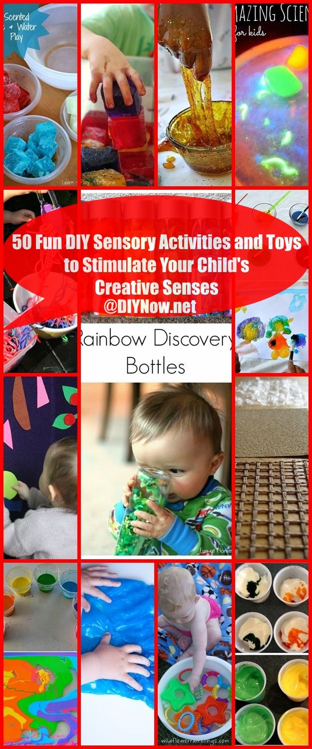 50 Fun DIY Sensory Activities and Toys to Stimulate Your Child's Creative Senses