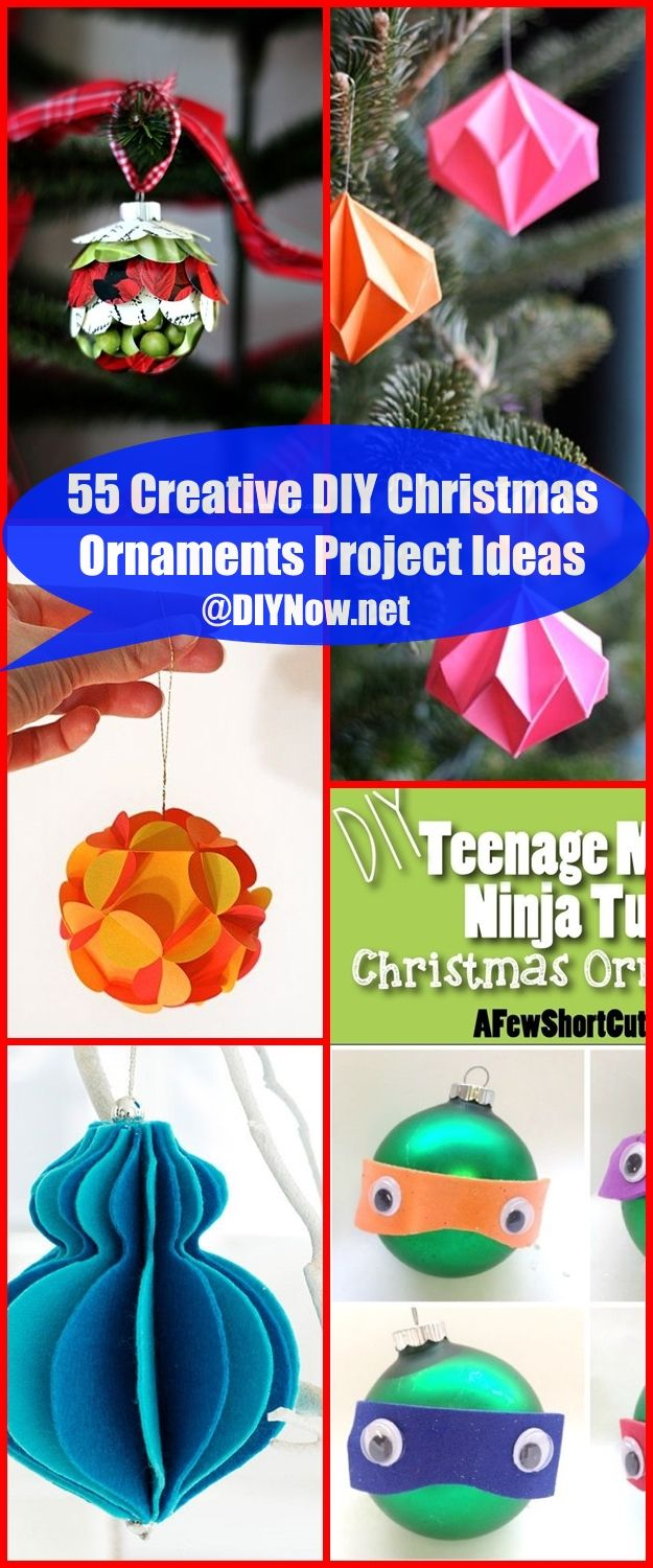 55 Creative DIY Christmas Ornaments Project Ideas