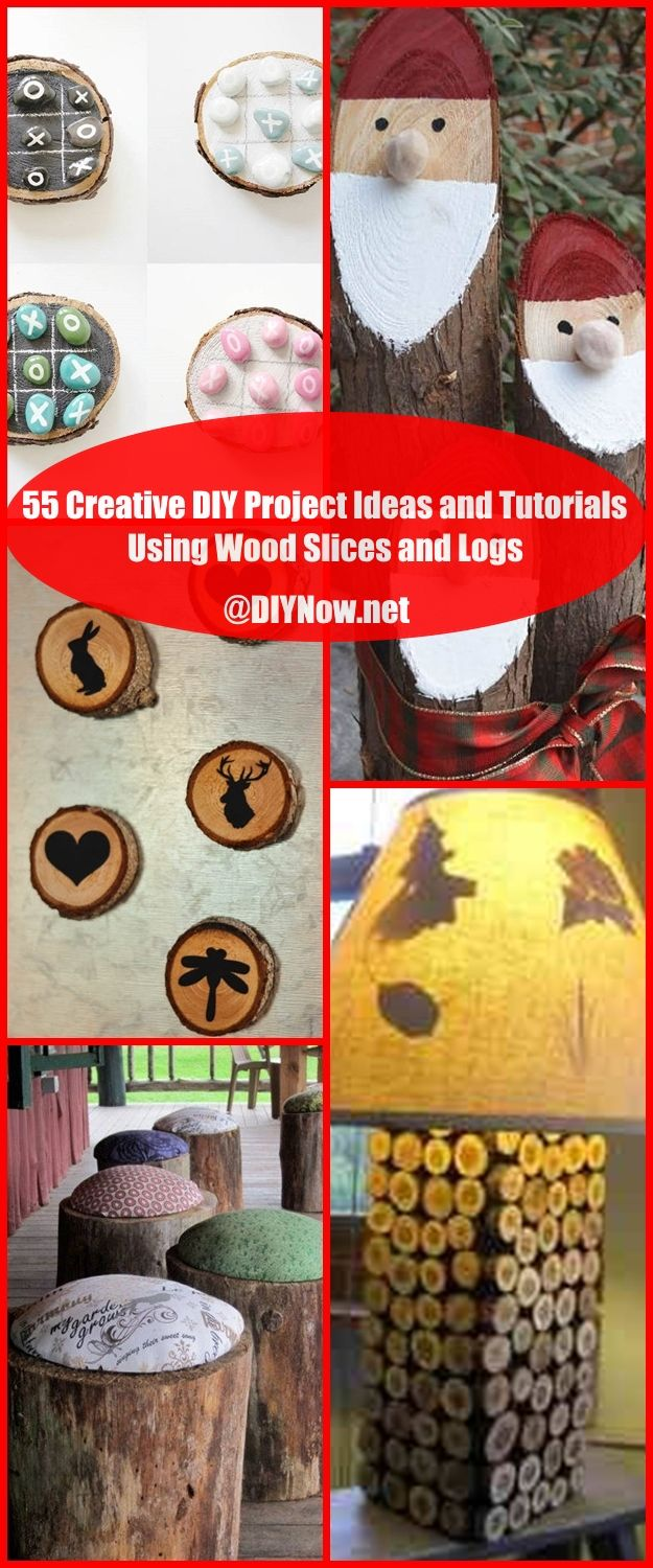 55 Creative DIY Project Ideas and Tutorials Using Wood Slices and Logs