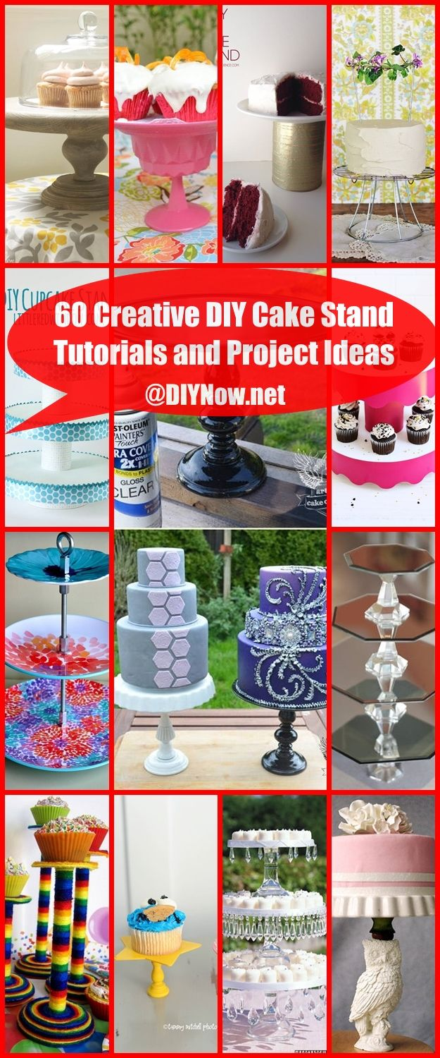 60 Creative DIY Cake Stand Tutorials and Project Ideas