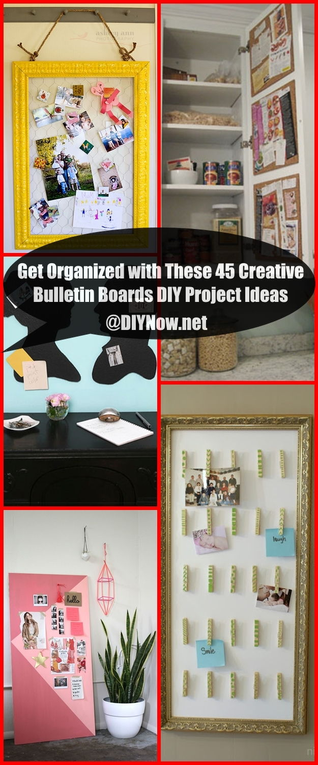 Get Organized with These 45 Creative Bulletin Boards DIY Project Ideas