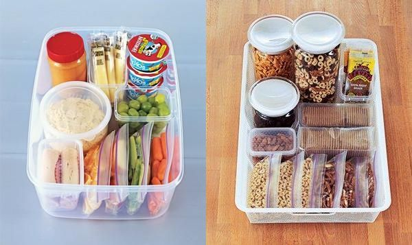 Create a Grab-and-Go Snack Stashes