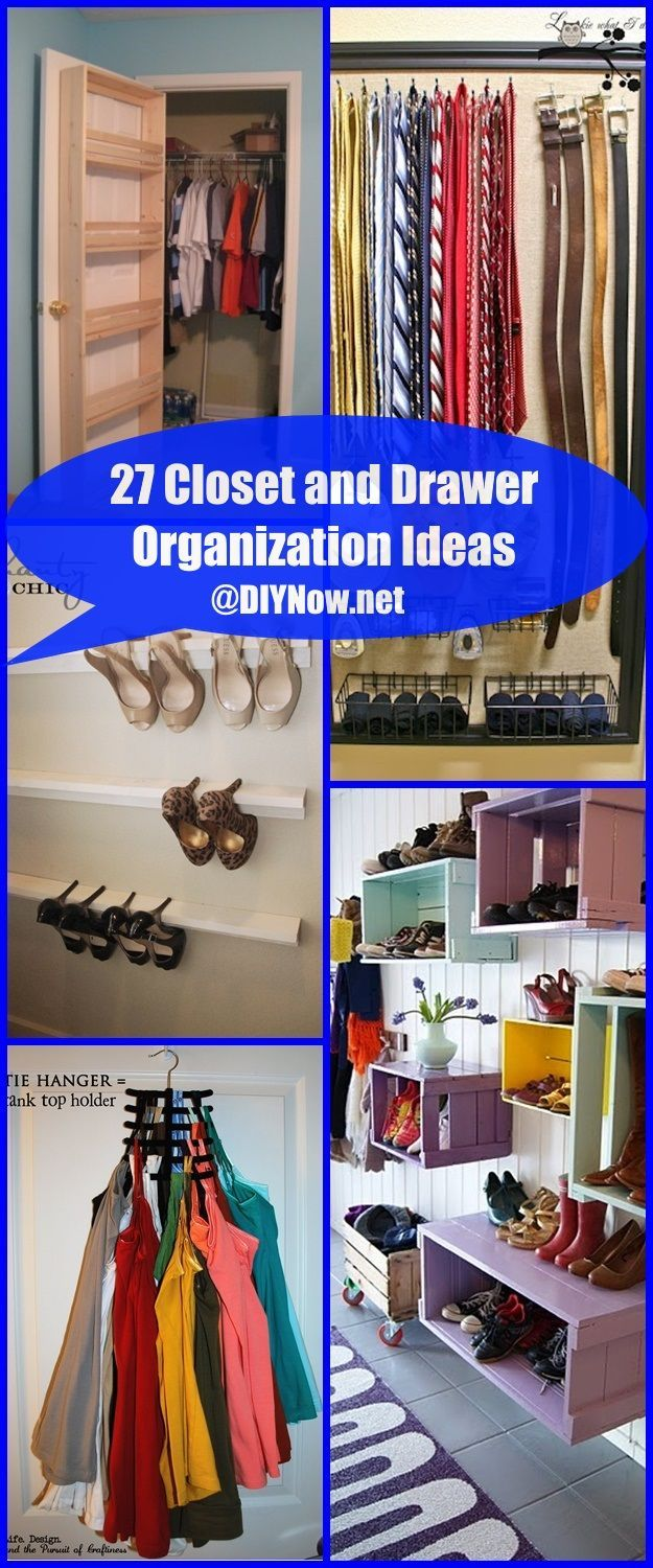 27 Closet and Drawer Organization Ideas