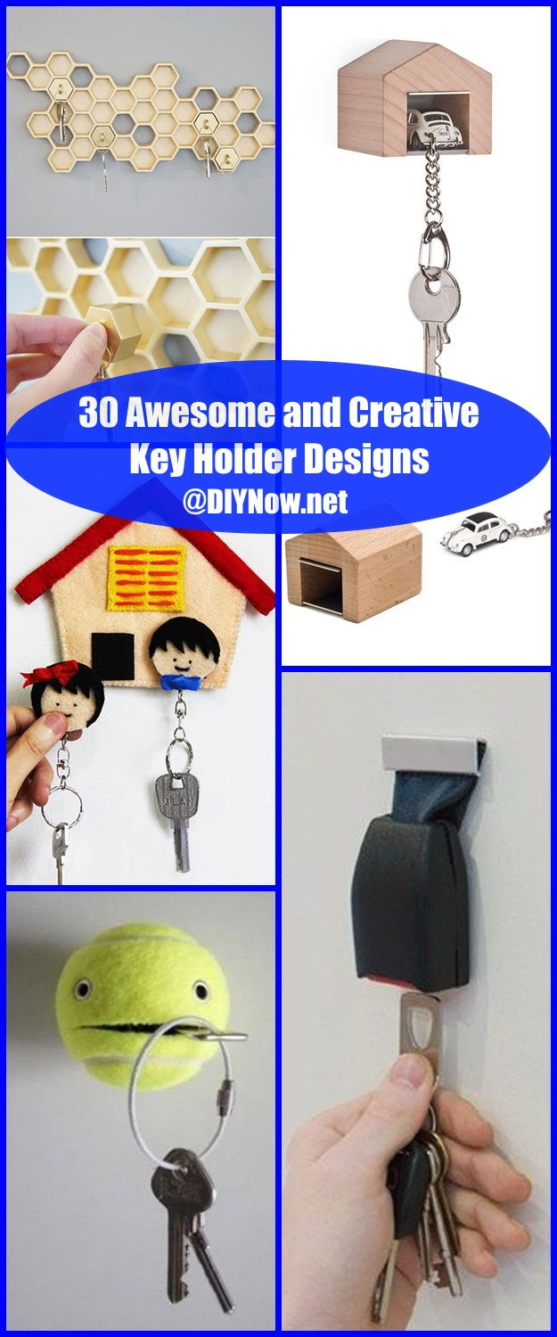 30 Awesome and Creative Key Holder Designs