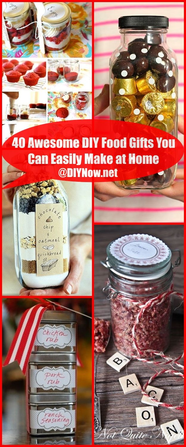 40 Awesome DIY Food Gifts You Can Easily Make at Home