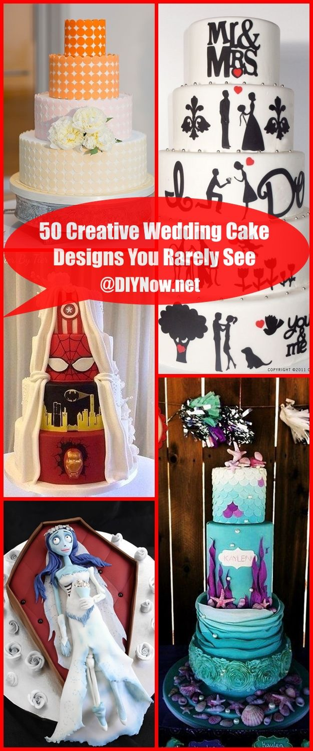 50 Creative Wedding Cake Designs You Rarely See