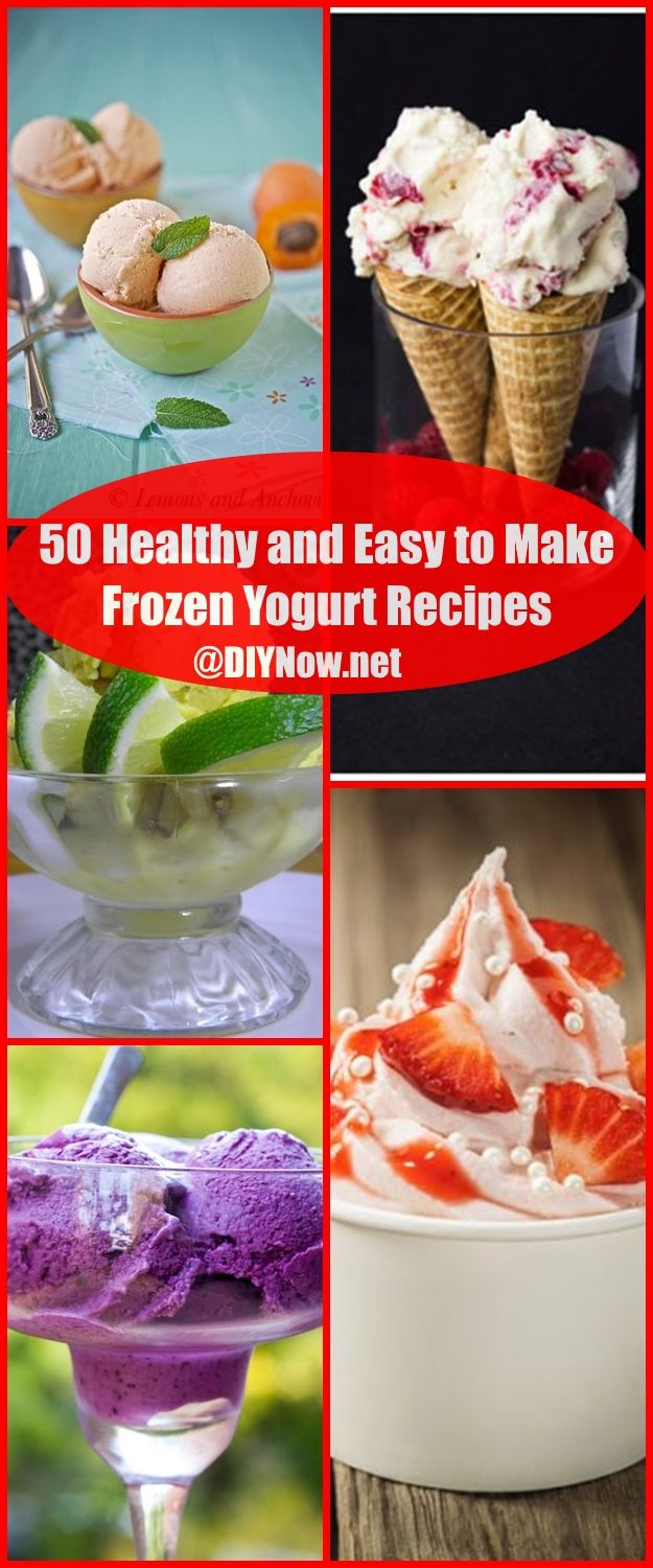 50 Healthy and Easy to Make Frozen Yogurt Recipes