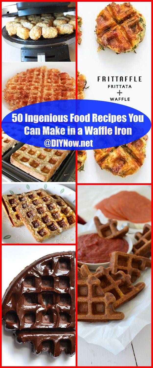 50 Ingenious Food Recipes You Can Make in a Waffle Iron