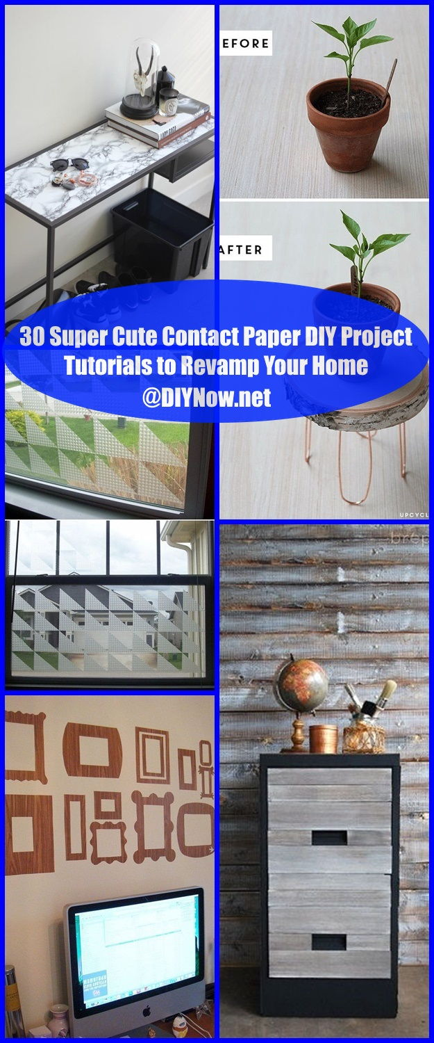 30 Super Cute Contact Paper DIY Project Tutorials to Revamp Your Home