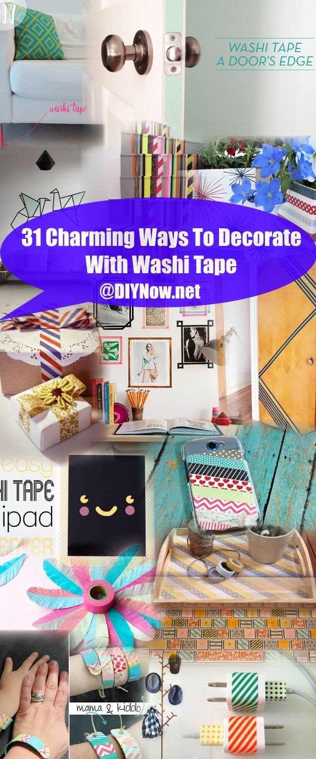 31 Charming Ways To Decorate With Washi Tape