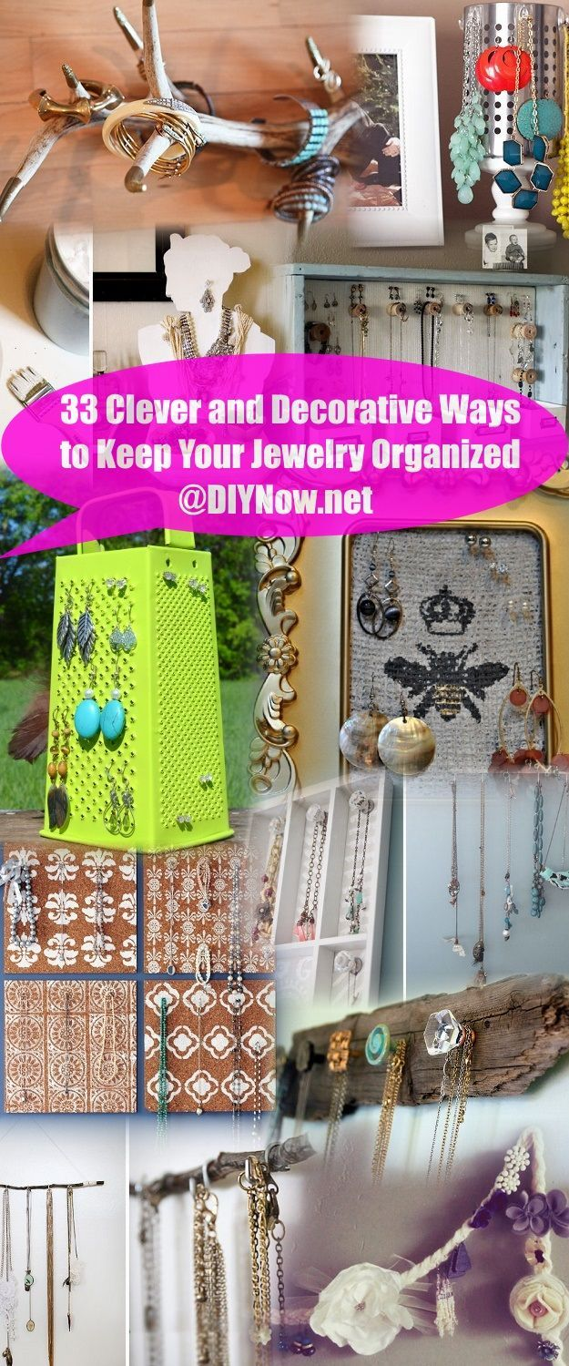 33 Clever and Decorative Ways to Keep Your Jewelry Organized
