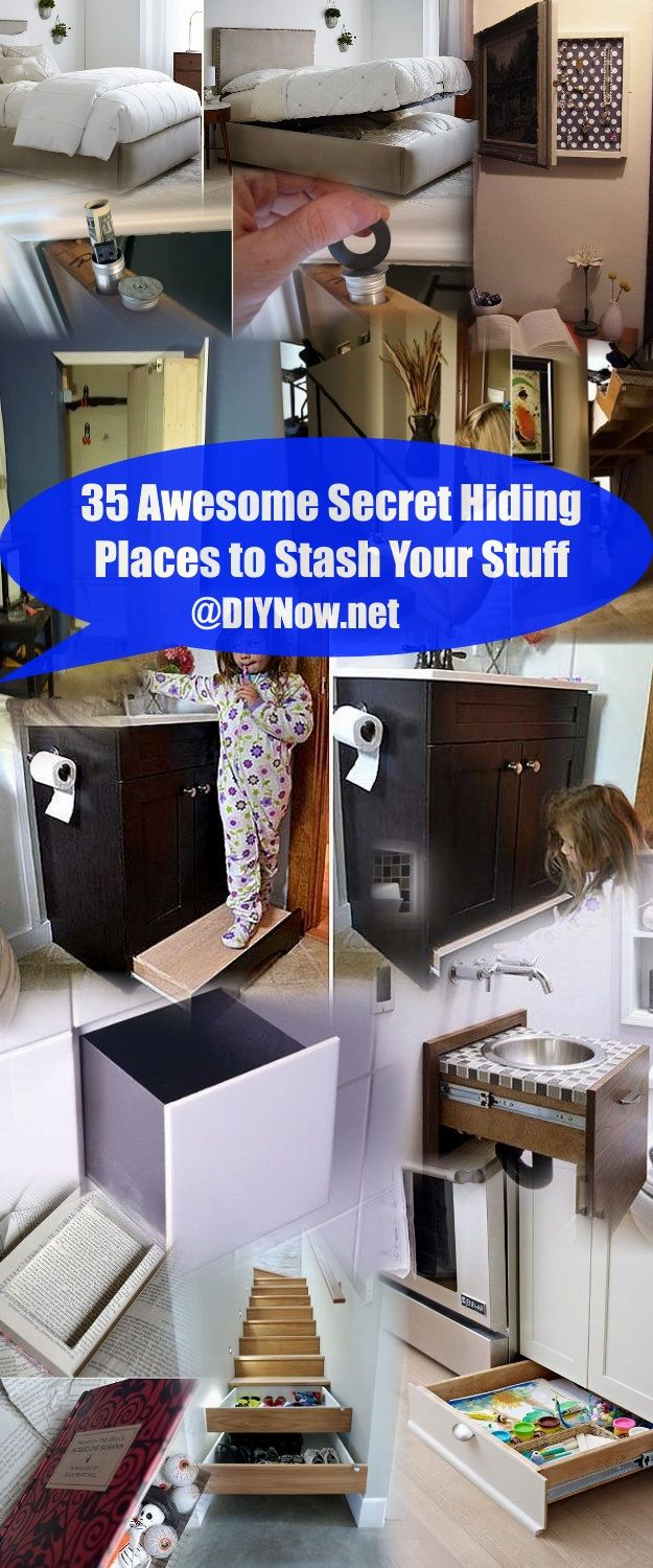 35 Awesome Secret Hiding Places to Stash Your Stuff