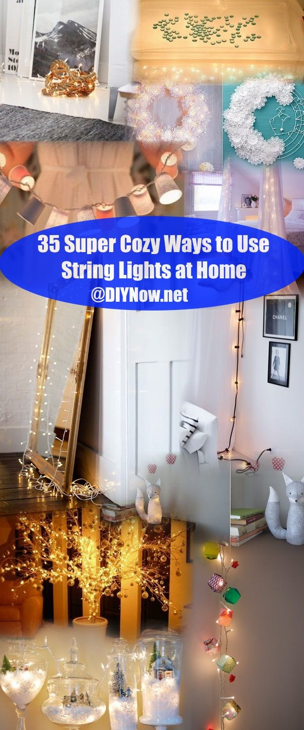 35 Super Cozy Ways to Use String Lights at Home