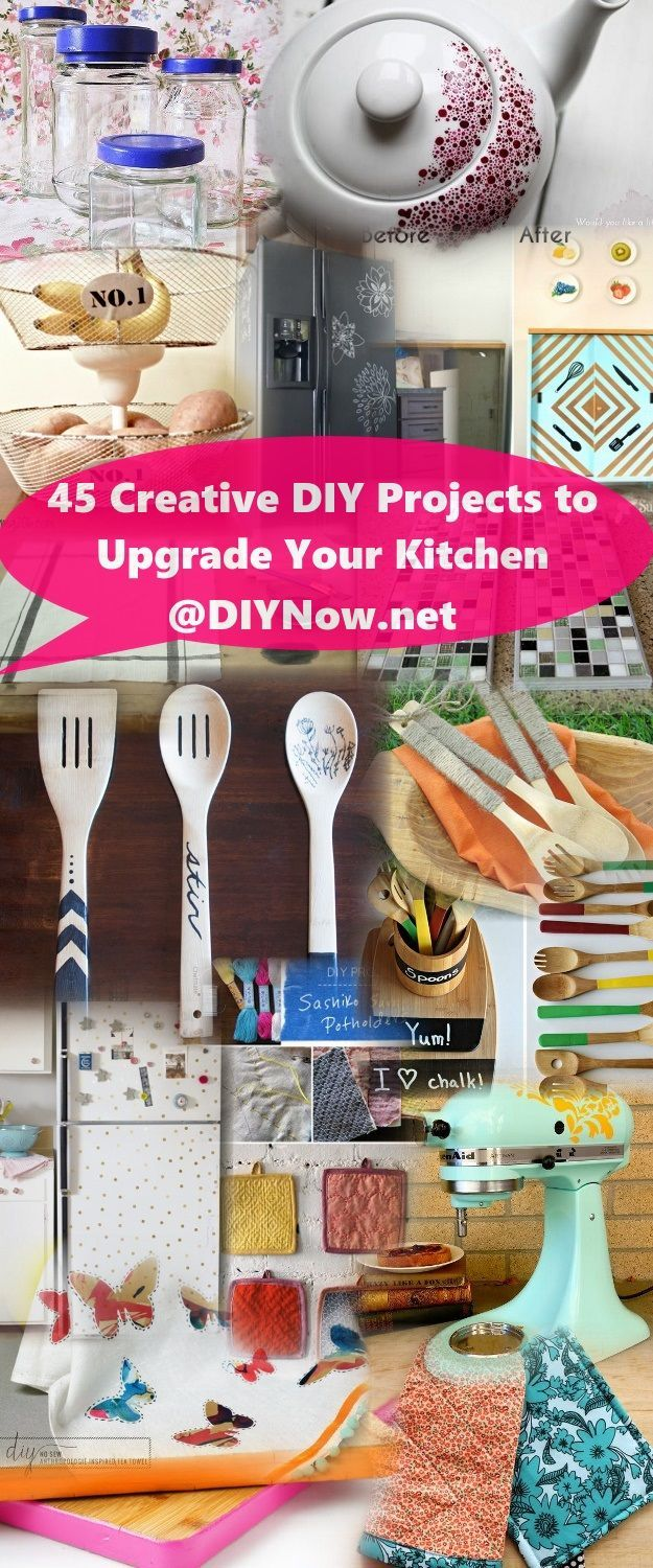 45 Creative DIY Projects to Upgrade Your Kitchen