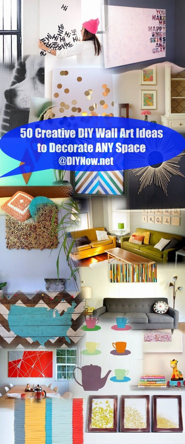 50 Creative DIY Wall Art Ideas to Decorate ANY Space